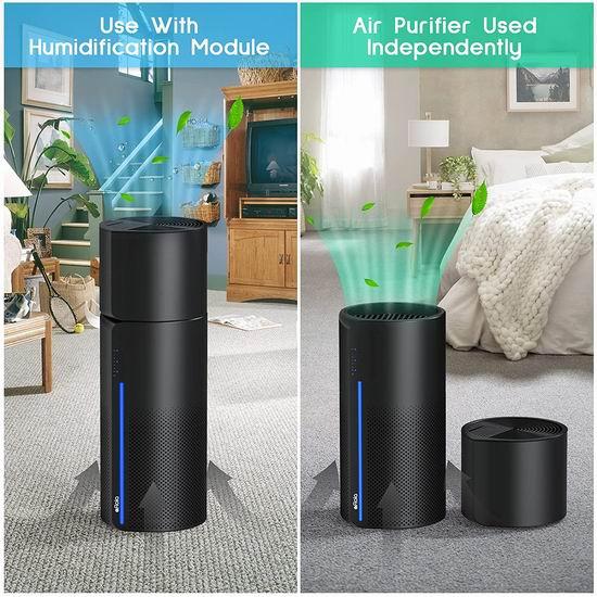 Afloia H13 True HEPA 二合一 家用空气净化器+蒸发加湿器6.5折 129.99加元包邮!净化滋润空气,从此健康呼吸!