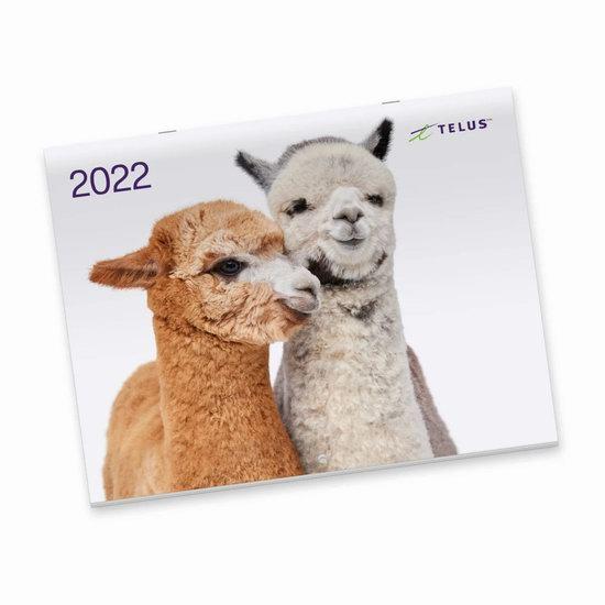 Telus 向客户免费寄送2022年动物月历!