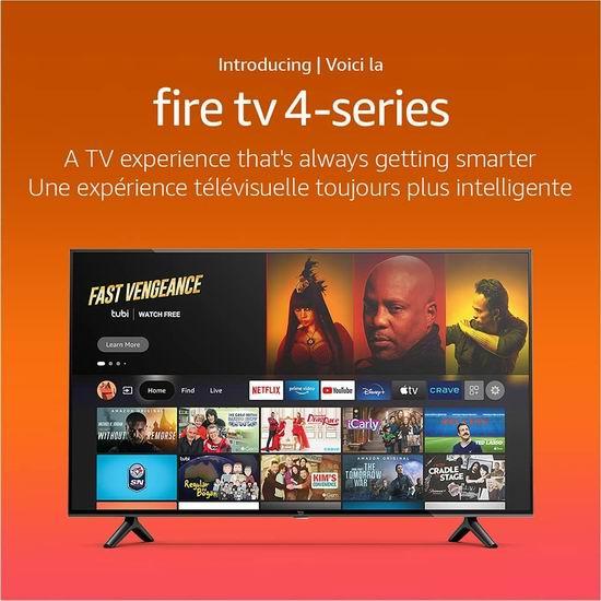 历史新低!新品预售 Amazon Fire TV 4-Series 50英寸4K超高清智能电视7.6折 459.99加元包邮!