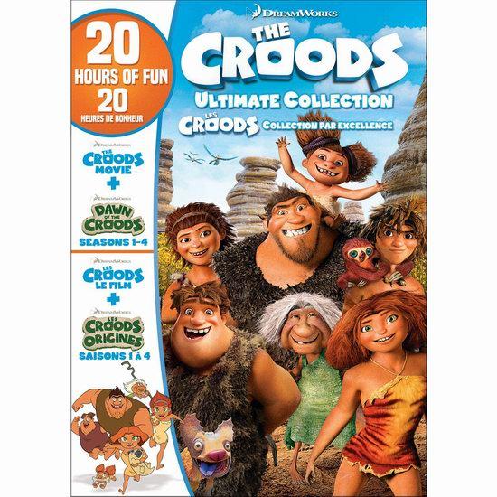 金盒头条:历史新低!《The Croods Ultimate Collection 疯狂原始人+疯狂原始人的黎明》电影+4季全集DVD套装7.6折 24.99加元!