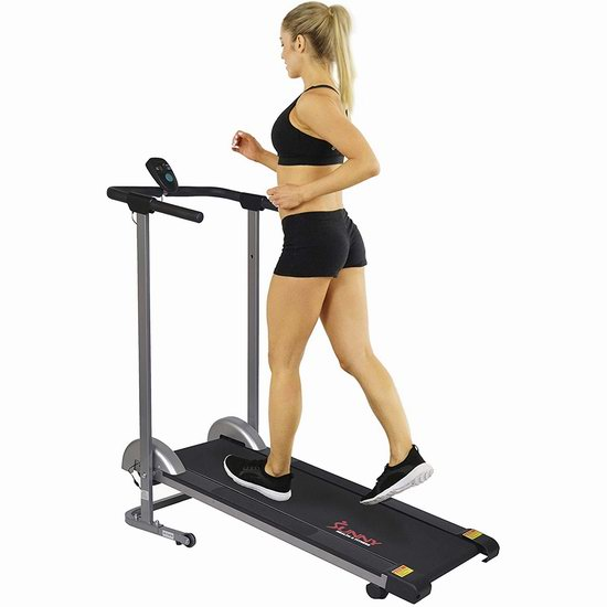 Sunny Health & Fitness SF-T1407M 可折叠紧凑型 家用坡度跑步机6.1折 154加元包邮!