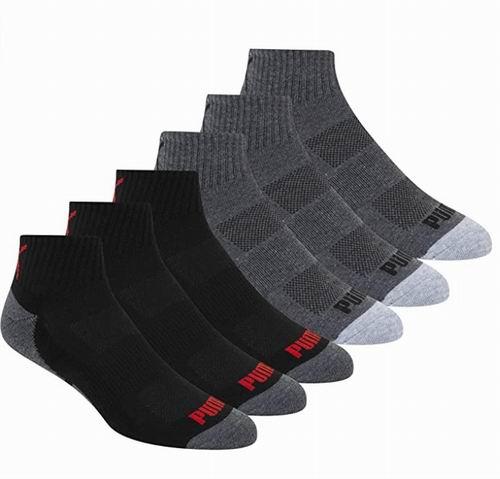 PUMA男士短袜 6双 14.68加元,原价 22.99加元
