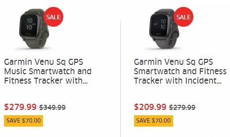 疑似Bug价!历史新低!Garmin Venu Sq Music 音乐版 智能手表6折 209.99加元包邮!
