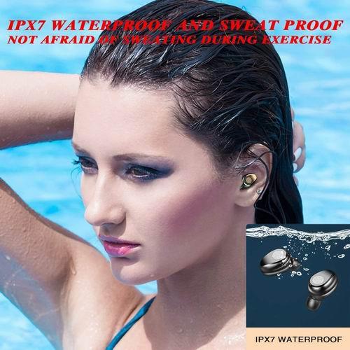 Sunoyar 蓝牙 5.0 石墨烯低音 Hi-Fi 防水无线耳机 23.99加元,原价 79.99加元
