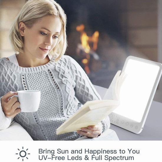 历史新低!Ltteeny 全光谱模拟太阳光 多用途光疗能量灯/自然醒唤醒灯/照明台灯6折 27.59加元包邮!