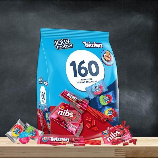 金盒头条:Twizzlers and Jolly Rancher 多乐滋扭扭糖+什锦糖果万圣节分享装(1.9公斤/160个)17.61加元包邮!