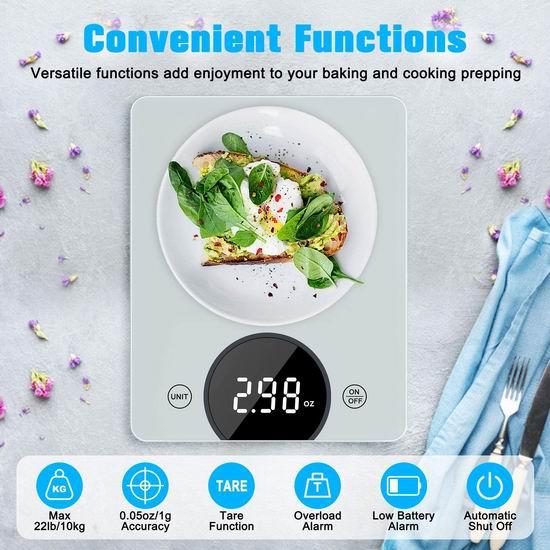 历史新低!TEUMI 10公斤 数字式钢化玻璃厨房秤5.6折 13.59加元!