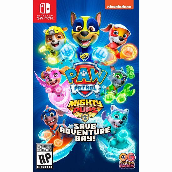 历史新低!《Paw Patrol Mighty Pups 汪汪队立大功:拯救冒险湾》 Switch版游戏6折 29.96加元!