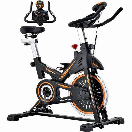 历史新低!Topseek 35磅飞轮 家用动感健身自行车7折 240.69加元限量特卖并包邮!