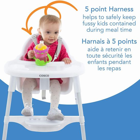 历史新低!Cosco Canteen 婴幼儿高脚餐椅7折 34.97加元!2色可选!