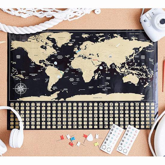 历史新低!Amazon Basics 可刮擦世界地图 13.43加元!