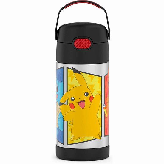 历史新低!Thermos 膳魔师 Funtainer 12盎司 Pokemon 儿童不锈钢保温杯5折 9.97加元!