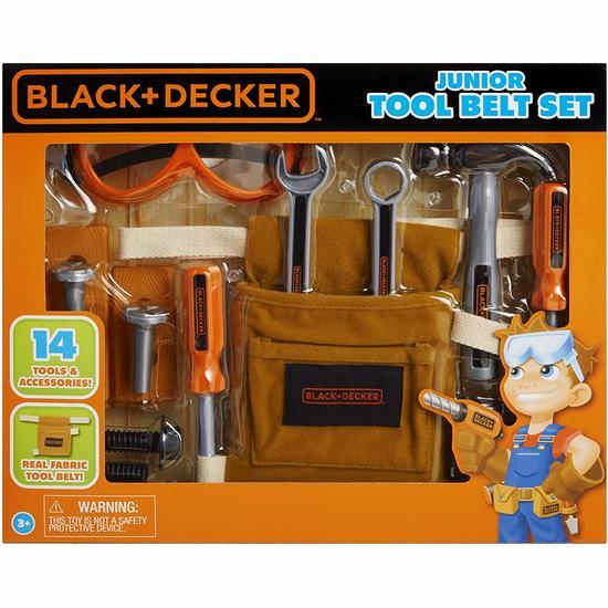 历史新低!BLACK & DECKER 儿童过家家 仿真家用工具14件套6.2折 15.6加元!