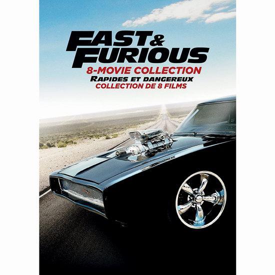 金盒头条:《Fast & Furious 速度与激情》系列电影8部DVD套装 31.99加元!