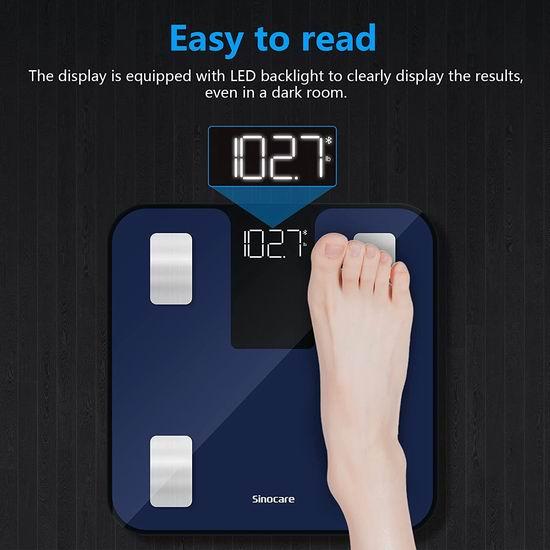 历史新低!Sinocare 蓝牙智能数字体脂/体重秤5折 18.49加元包邮!