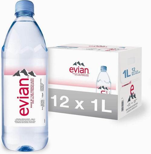 evian 依云法国阿尔卑斯山天然矿泉水 1升 x 12瓶 19.95加元,walmart售价 47.99加元