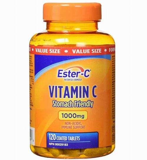 Ester-C 天然酯化维生素C 1000mg  120粒 20.99加元(24.99加元), 增加抵抗力 酯化易吸收护肠胃