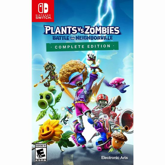 历史新低!《Plants Vs Zombies Battle for Neighborville 植物大战僵尸:和睦小镇保卫战》Switch版游戏4.5折 24.99加元!