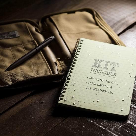 历史新低!Rite In The Rain 全天候防水笔记本+防水笔+保护套套装5.3折 36.85加元包邮!美国大兵也在用,轻松保存上百年!
