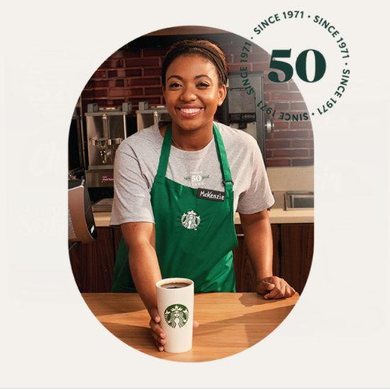 Starbucks 星巴克50周年庆,今日(9月29日)免费送Pike Place派克坊咖啡!