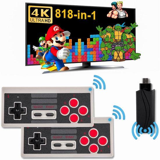 历史新低!LIFTREN 818合一 双无线手柄 超迷你复古游戏机1.5折 46.99加元包邮!