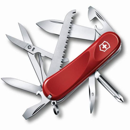 近史低价!Victorinox Swiss Army 正宗瑞士维氏刀 Evolution 18 15功能刀5.3折 36.85加元包邮!