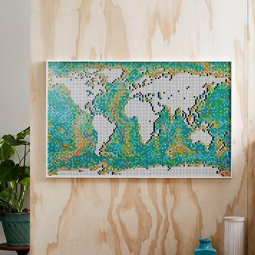 新品:LEGO 乐高 31203 世界地图 349.94加元 ,DIY定制自己的海洋