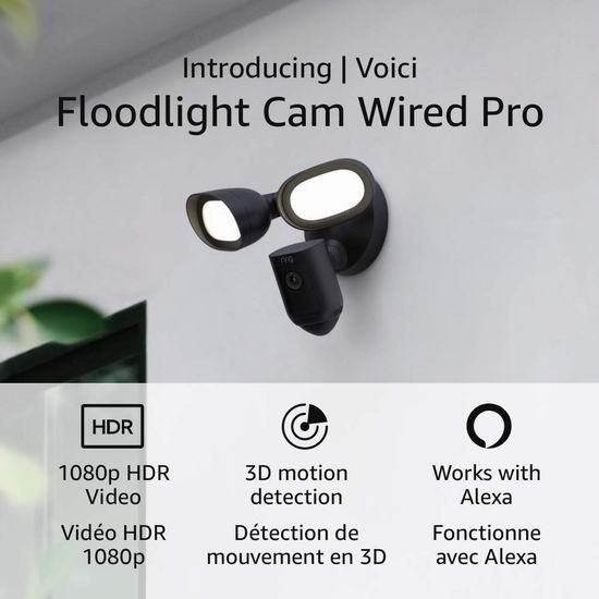 历史新低!Ring Floodlight Cam Pro 超亮感应照明/3D检测/双向语音/警笛 家庭安防摄像头 259.99加元包邮!2色可选!