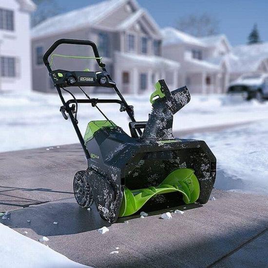 手慢无!精选多款 Greenworks 电动铲雪机、无绳铲雪机全部5折清仓!低至59.5加元包邮!