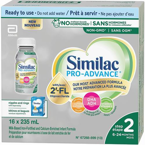 Similac Pro-Advance Step 2 婴儿非转基因液体奶 16x235毫升 41.78加元,原价 49.98加元,包邮