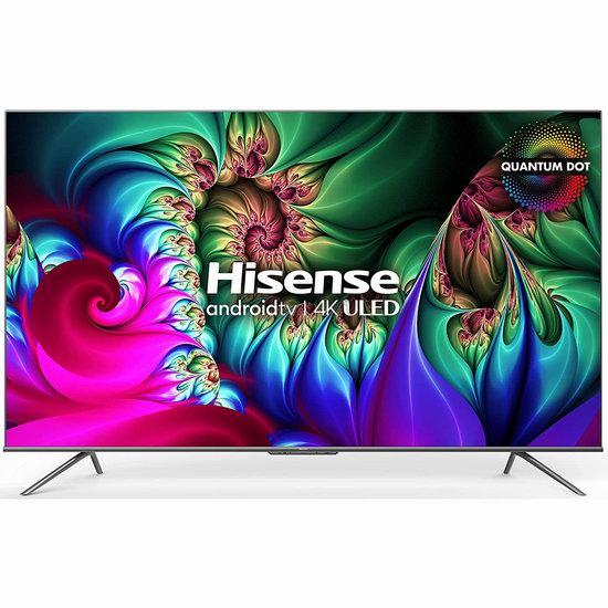 历史新低!Hisense 海信 75U78G 75英寸 4K QLED 120Hz 安卓智能电视7.9折 1899.98加元包邮!