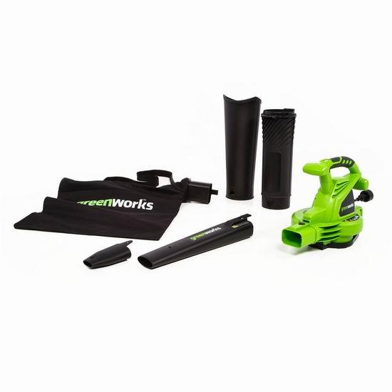 金盒头条:历史新低!Greenworks 24022 230MPH 二合一强力吹叶机/吹扫机5.5折 55.3加元包邮!