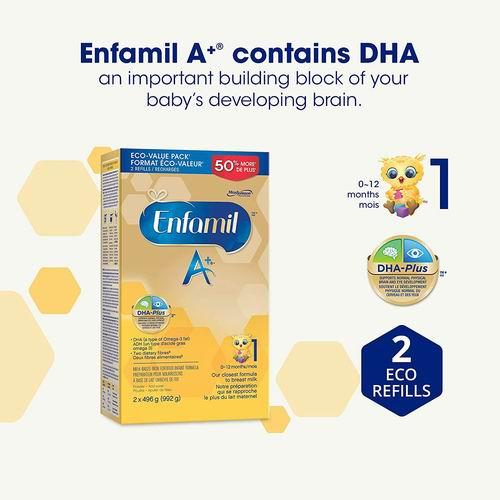 Enfamil A+婴儿配方奶粉 1段 40.82加元,原价 47.99加元,包邮