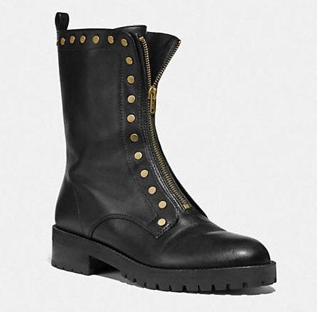 Coach Outlet Lara 女士铆钉短靴 88.5加元(8.5码),原价 295加元,包邮