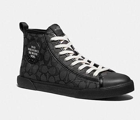 Star Wars X Coach C207男士高帮休闲鞋 3折 89.4加元(8/9.5码),原价 298加元,包邮