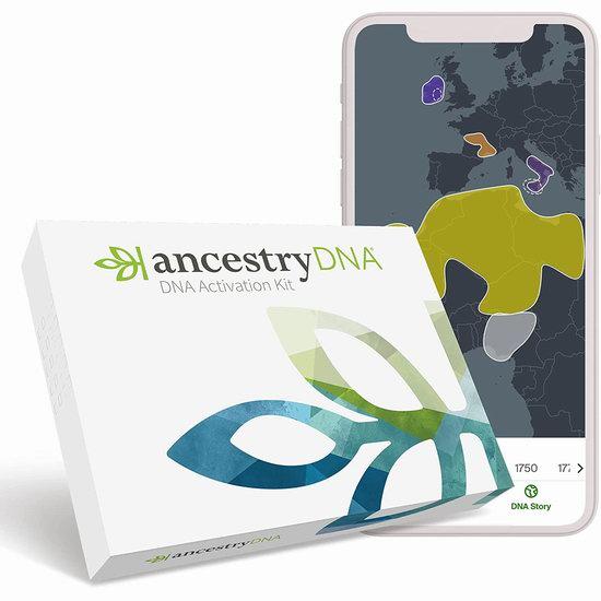 AncestryDNA DNA基因祖源检测6.1折 79加元包邮!
