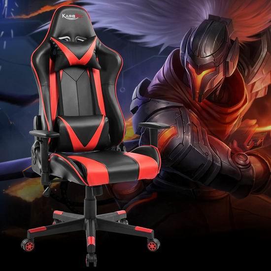 历史新低!Kasorix 护腰护颈 可午休 人体工学 高靠背赛车办公椅/游戏椅5折 119.99加元包邮!