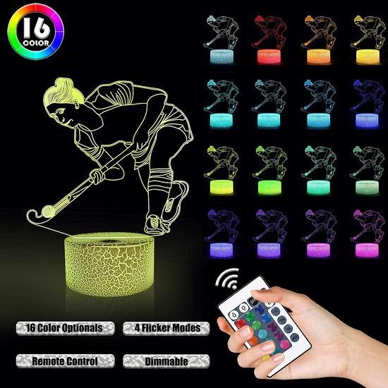 白菜价!历史新低!Lampeez 16变色LED 创意3D夜灯3折 7.99加元清仓!