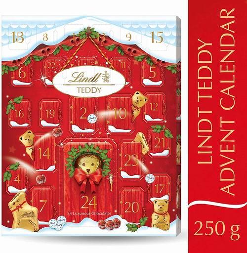 圣诞礼品:Lindt小熊巧克力圣诞日历 250g 45.67加元+包邮