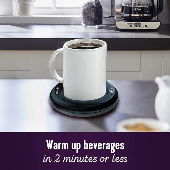 金盒头条:Mr. Coffee 电热暖杯垫/茶水咖啡保温底座6.7折 12.79加元!2分钟内快速加热!